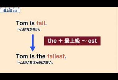 中2英語 最上級 est
