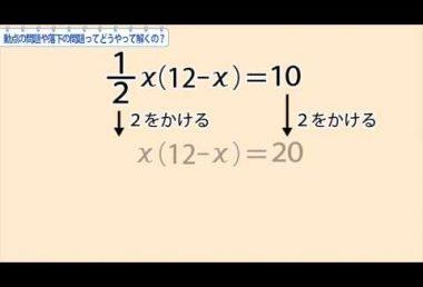 中3数学 動点の問題や落下の問題ってどうやって解くの?