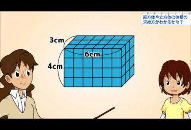 小5算数 直方体や立方体の体積の求め方がわかるかな?