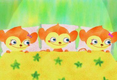 【えいごのうた】Three Little Monkeys