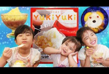 ふわっふわのかき氷がおうちで簡単につくれる♡三姉妹が挑戦! YukiYuki