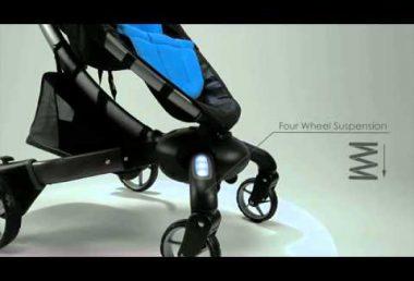 世界初の多機能・電動折りたたみベビーカー 4moms Origami