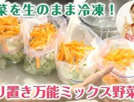 野菜を生のまま冷凍! 作り置き万能ミックス野菜